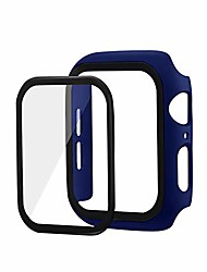cheap -for apple watch se/watch 6 44mm case hard pc protector with 360 full layer glass film shock proof and shatter resistant for apple watch se/watch 6 44mm (blue)