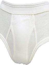 cheap -brand six pack mid-rise men's briefs (40, white)