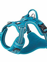 cheap -dog harness no pull adjustable reflective step-in soft nylon for small large pet tlh56512(l, blue)