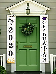 cheap -graduation banner,class of 2020graduation porch sign congrats grad banner hanging decoration, for outdoor/indoor home front door wall yard graduation party decoration signs