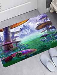 cheap -Giant Mushroom Castle Digital Printing Floor Mat Modern Bath Mats Nonwoven Memory Foam Novelty Bathroom