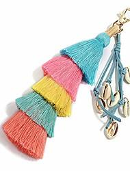 cheap -tassel pom pom key chain colorful boho charm key ring, fashion accessories for women (a2)