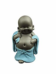 cheap -laughing buddha statue monk figurine baby crafts dolls maitreya feng shui ornaments gift sky-blue