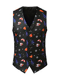 cheap -Santa Claus Cosplay Costume Men's Adults' Christmas Christmas Christmas Polyester Vest