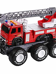 cheap -friction powered monster fire engine truck with lights and sounds, transform firetruck vehicle toy, for boys and girls ages 3+