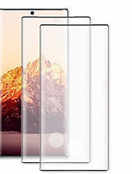 cheap -[2 pack] galaxy note 10 screen protector, [fingerprint recognition] complete 3d curved edge hd screen protector [9h hardness] [easy installation] suitable,for samsung galaxy note 10 6.3 inch