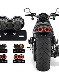cheap -perfectech 40w 40-led motorcycle tail light integrated driving&brake light turn signal lamp with license plate bracket for harley honda yamaha suzuki kawasaki (black)