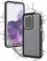 cheap -waterproof case for samsung galaxy s20 ultra 6.9 inch, ip68 waterproof snowproof shockproof and dustproof cover case underwater full sealed durable cover case for outdoor sports, (black)