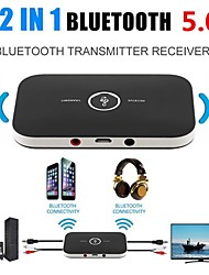 cheap -Bluetooth 5.0 Transmitter & Receiver 3.5mm Wireless Stereo Audio Adapter Car Kit AUX Jack USB Dongle Music Wireless Adapter For Car PC TV Headphones