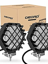 cheap -led light pods 5 inch 2 packs 48w 4800lm oedro spot light pod off road driving lights fog bumper roof light fit for boat, jeep, suv, truck, hunters, motorcycle work light, 2 years warranty (black)