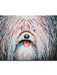 cheap -Mintura Large Size Hand Painted Abstract Dog Animal Oil Painting on Canvas Modern Wall Art Pictures For Home Decoration No Framed