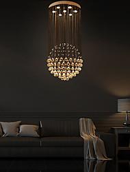 cheap -7-Light 60cm(23.62 Inch) Crystal LED Pendant Light Metal Electroplated Modern Contemporary 110-120V 220-240V / GU10