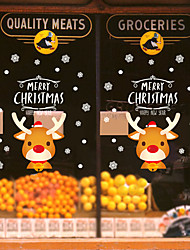 cheap -Christmas Toys Christmas Window Clings Window Stickers Wall Decals Elk Christmas Tree Merry Christmas Waterproof Removable Party Favor PVC 6 pcs Kid's Adults 30*45cm Christmas Party Favors Supplies