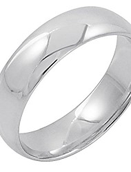 cheap -men's 14k white gold 6mm comfort fit plain wedding band (available ring sizes 8-12 1/2) size 11.5