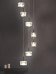 cheap -150 cm Crystal Pendant Cluster Style Light Metal Electroplated Modern 110-120V 220-240V