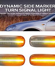 cheap -2pcs Led Dynamic Side Marker Turn Signal Light Sequential Blinker Indicator Light for Audi A3 S3 8P A4 S4 RS4 B6 B7 B8 A6 S6 RS6 2 Colors To Choice