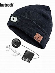 cheap -unisex 4 led knitted beanie hat for camping, grilling, auto repair, jogging, walking, or handyman working, hands free led beanie cap