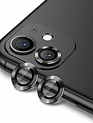 cheap -camera lens protector for iphone 11 (6.1 inch),premium tempered glass film aluminum alloy lens screen cover case black