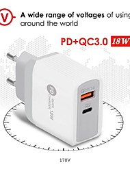 cheap -PD 18W Type-C Charger Compatible with QC3.0 Fast Charging USB Mobile Phone Charger usb charger charging for iphone baseus