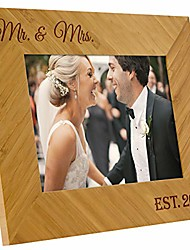 cheap -rustic bamboo mr & mrs wedding frame - the for the newlyweds for your wedding anniversary or vow renewal (8 x 10)