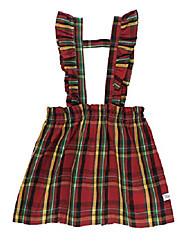 cheap -girls remington plaid ruffle strap skirt - 5