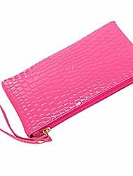 cheap -fashion women elegant clutch purses for women leather clutches handbag bag coin purse(19cm11cm1.5cm,hotpink)