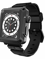 cheap -case with band for apple watch 44mm series 6 se heavy duty metal bumper case with tempered glass for men's iwatch 5 4 44mm full protective cover with sport straps screen protector (black)