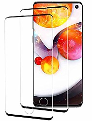 cheap -[2 pack] for galaxy s10 screen protector,  tempered glass anti-fingerprint, no bubble, 9h hardness, samsung galaxy s10 hd screen protector (black)