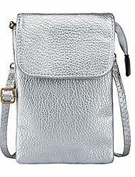 cheap -women small crossbody bag,  cell phone purse zipper wallet [4 pockets] with removable shoulder strap, travel handbag for iphone xs max 8/7/6 plus, galaxy note 10 pro/a10/a20/a50, silver