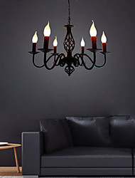 cheap -6-Light 36 cm Candle Style Chandelier Metal Candle-style Others Chic & Modern 110-120V 220-240V