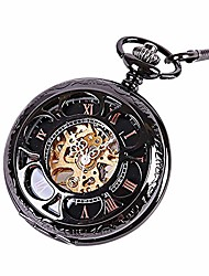 cheap -pocket watch petal hollow classical sculptured mechanical pocket watch vintage pocket watch with chain for men women watches