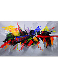 cheap -Large Red Color Picture 100% Hand painted Modern Abstract Oil Painting on Canvas for Living Room Wall Art Home Decoration Gift Rolled Canvas No Frame Unstretched