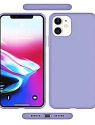 """cheap -soft touch liquid silicone gel rubber bumper silky full body protection microfiber lining protect drop proof non slip slim case cover compatible with apple iphone 11(2019) 6.1"""" (light purple)"""