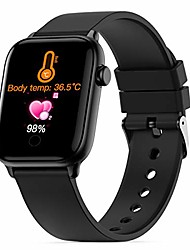 cheap -smart watch fitness tracker,body temperature monitor blood pressure measurement bluetooth smartwatch touchscreen wrist watch, fitness tracker with camera pedometer for android iphone ios for men women