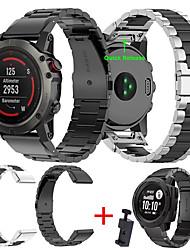 cheap -Smart Watch Band for Garmin 1 pcs Sport Band DIY Tools Stainless Steel Replacement  Wrist Strap for Approach S60 Fenix 5x Fenix 5 Fenix 5 Plus Fenix 5x Plus One size 22mm