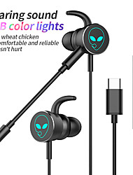 cheap -Wired Dynamic Headphone  Type-C In-ear Gaming Earphone with Mic for Phone
