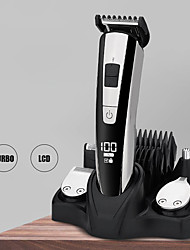cheap -LCD Digital Display Multi-Function Electric Hair Clipper Head-Changing Adjustable Hair Clipper Men'S Razor Nose Hair Clipper