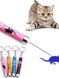 cheap -Teaser Laser Toy Interactive Cat Toys Fun Cat Toys Dog Cat Pets 1 Piece Glow LED Lighting UV Light Laser Engraving Scan Alloy Gift Pet Toy Pet Play