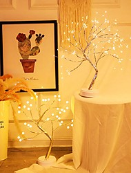 cheap -36/108LED Night Light Mini Christmas Tree Copper Wire Garland Lamp For Home Kids Bedroom Decor Fairy Lights Luminary Holiday lighting