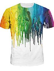 cheap -unisex novelty t shirts 3d graphic galxy t-shrist short sleeve tees crewneck