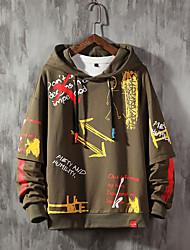 cheap -mens graffiti hoodies print sweatshirt fashion tracksuit casual hip-hop funny coat (yellow, small)