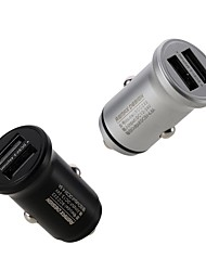 cheap -Remax RCC222 Car Charger 2 Double USB A Type A 24W 4.8A Power Fast Charge Quick To  Phone 12V-24V Black & Silver Color To Choice 1PCS AL ABS Meterials