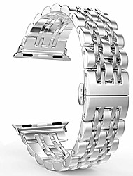 cheap -stainless steel apple watch strap for 38mm 40mm 42mm 44mm, metal butterfly buckle iwatch band for woman men series 4/3/2/1(multi color),001,38/40mm