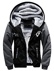 cheap -men's regular fit fleece outerwear coat casual thick baseball jacket us m black