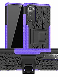 cheap -galaxy note 20 case, samsung note 20 case, [shockproof] tough rugged dual layer protective case hybrid kickstand cover for samsung galaxy note 20 6.7 inch 2020 release (purple)