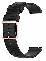 cheap -for samsung galaxy watch 3 41mm replacement band,  20mm replacement silicone wrist strap band for samsung galaxy watch 3 41mm sm-r850/ active 3/2/1(silicone black)