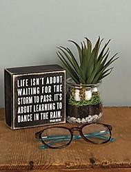 cheap -16336  classic box sign, 4 x 4-inches, dance in the rain