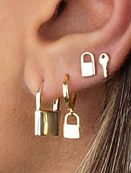 cheap -Women's Stud Earrings Earrings Vintage Style Fashion Fashion Vintage Classic Punk Trendy Earrings Jewelry Silver / Gold For Street Gift Date Vacation Festival 1pack