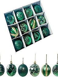 "cheap -shatterproof christmas ball ornaments christmas decorations tree hanging balls for xmas tree 2.17"" 12pcs (green)"
