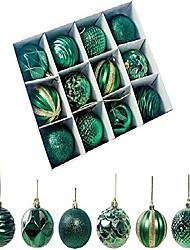 "cheap -shatterproof christmas ball ornaments christmas decorations tree hanging balls for xmas tree 2.17"" 12pcs (green)"